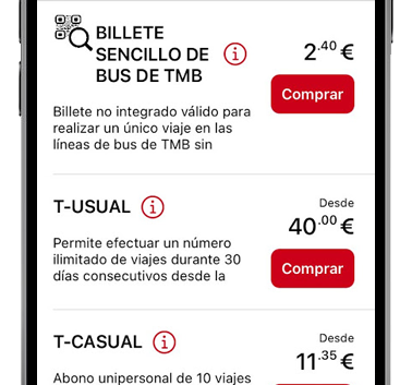 tmb app catalogo de billetes