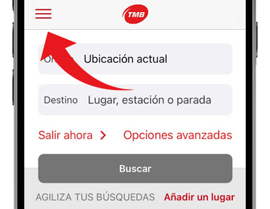 tmb app menu principal