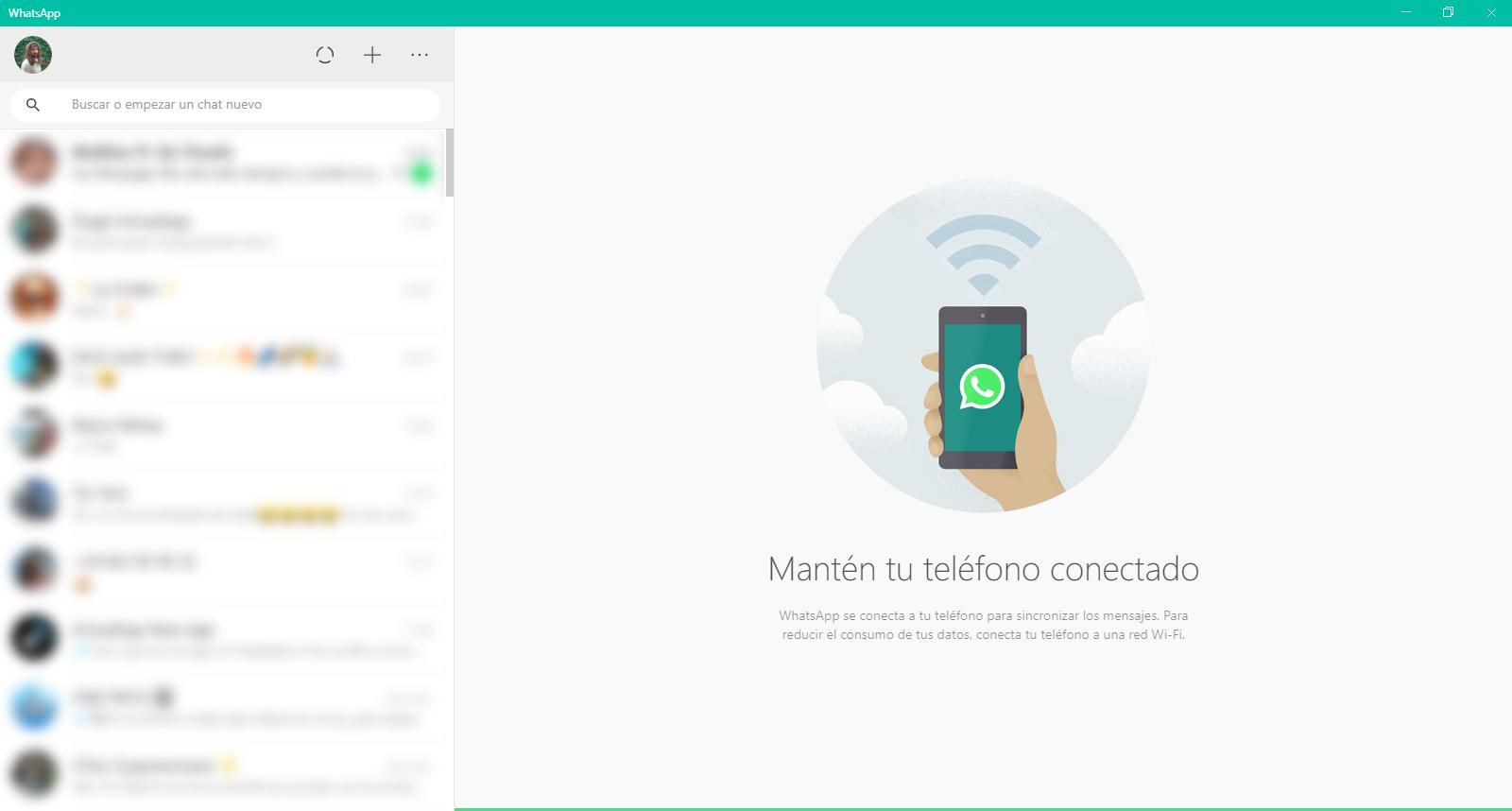 whatsapp chats escritorio