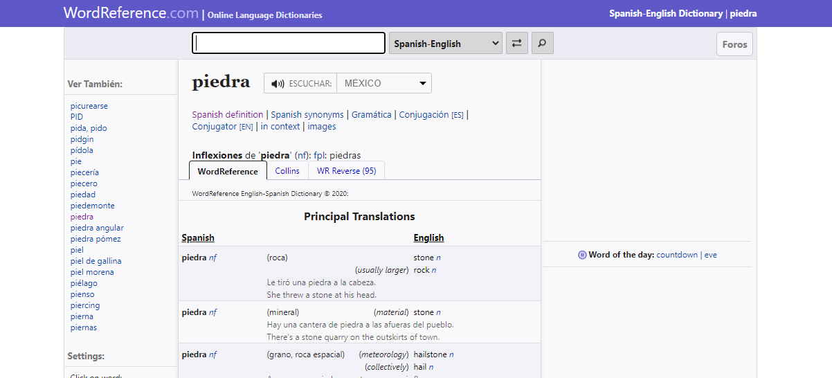wordreference traduccion español ingles