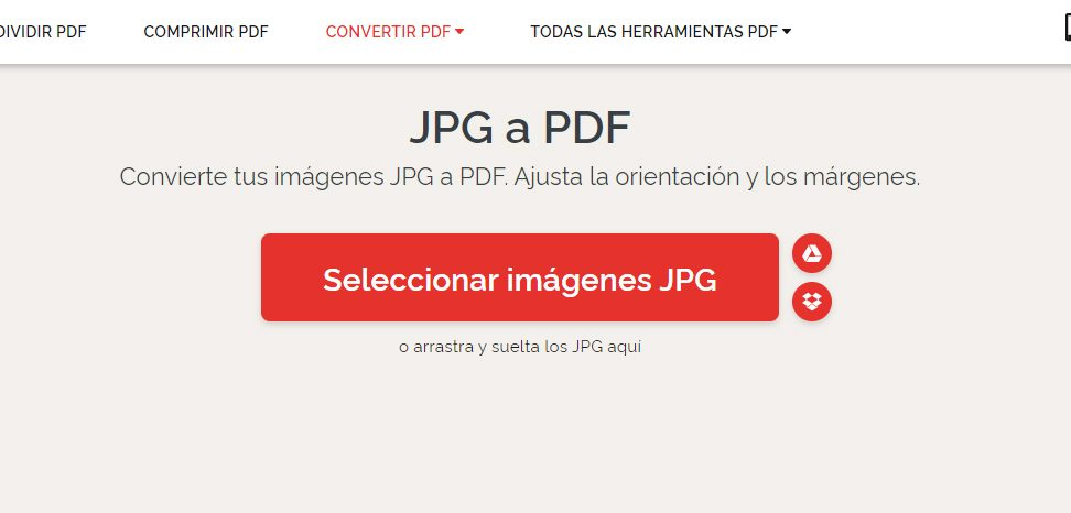 convertir de jpg a pdf