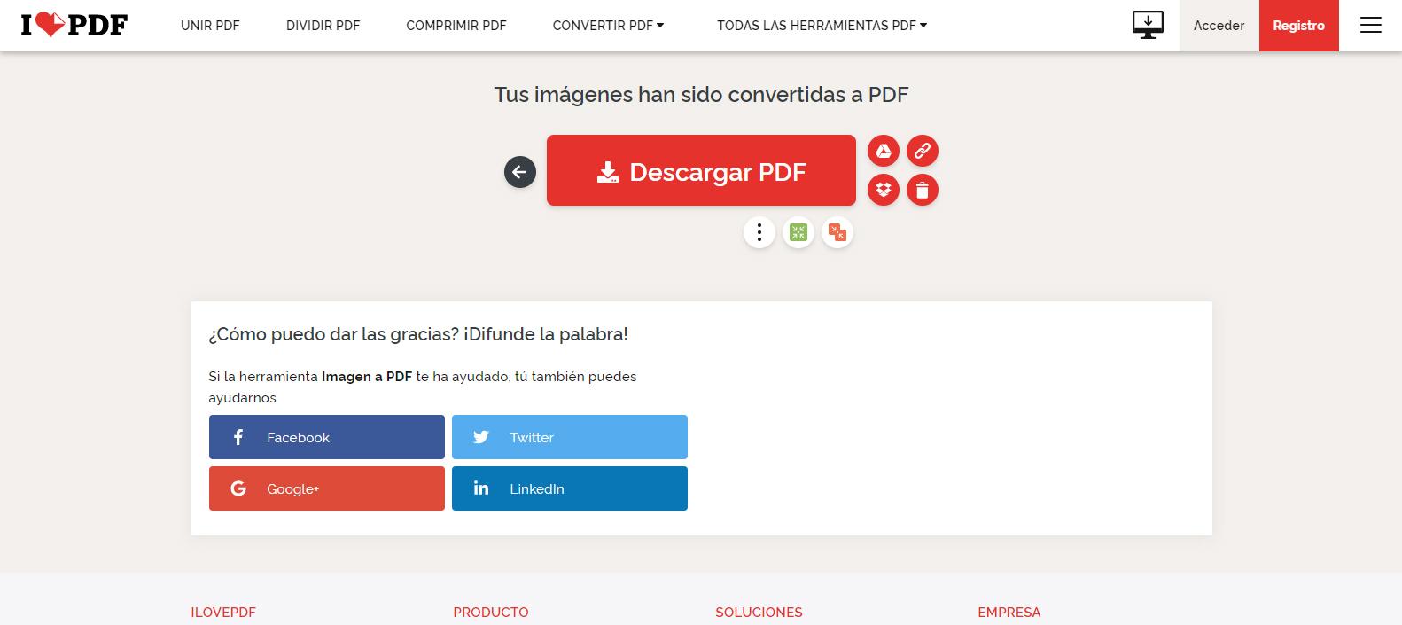 descargar pdf convertido desde jpg