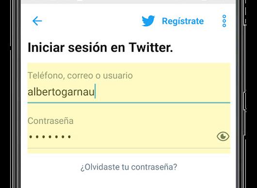 twitter iniciar sesion usuario contraseña