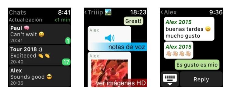 watchchat para whatsapp apple watch