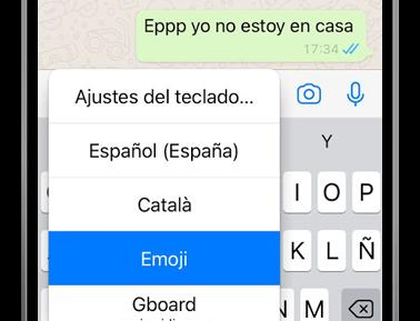 ios teclado emoji whatsapp