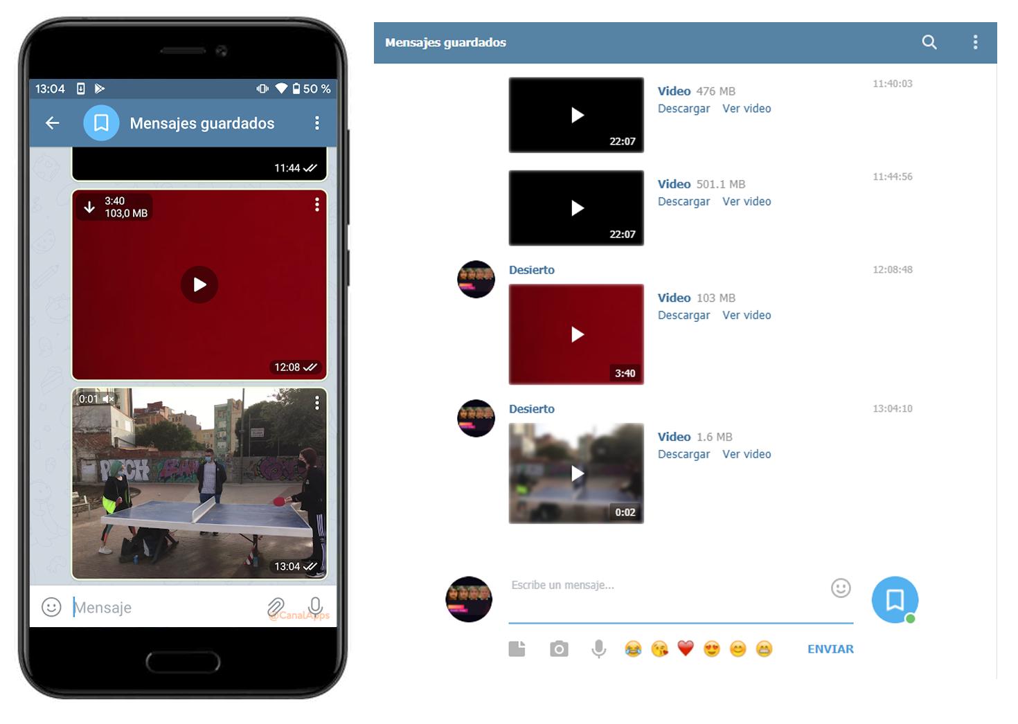telegram video smartphone web