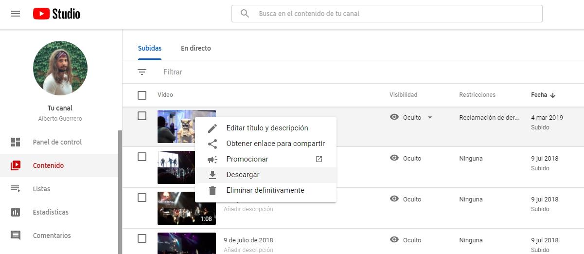 youtube creator studio video