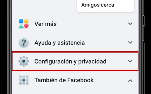facebook configuracion y privacidad app