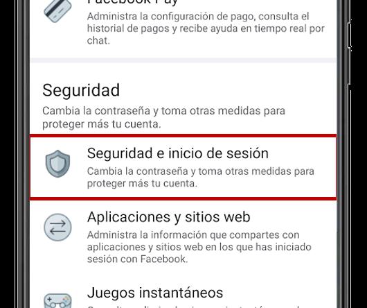 facebook seguridad e inicio de sesion app