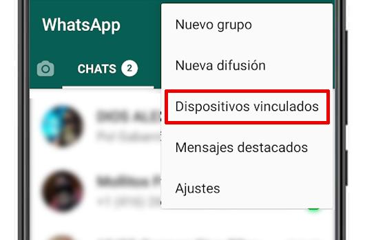 whatsapp dispositivos vinculados