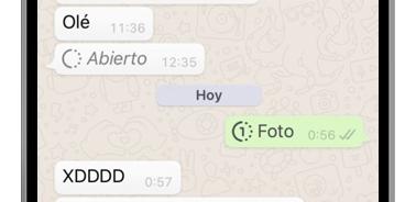 whatsapp abierto fotos temporales