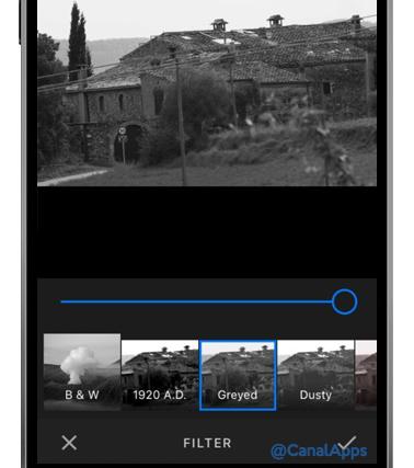 amazon fotos filtro blanco y negro