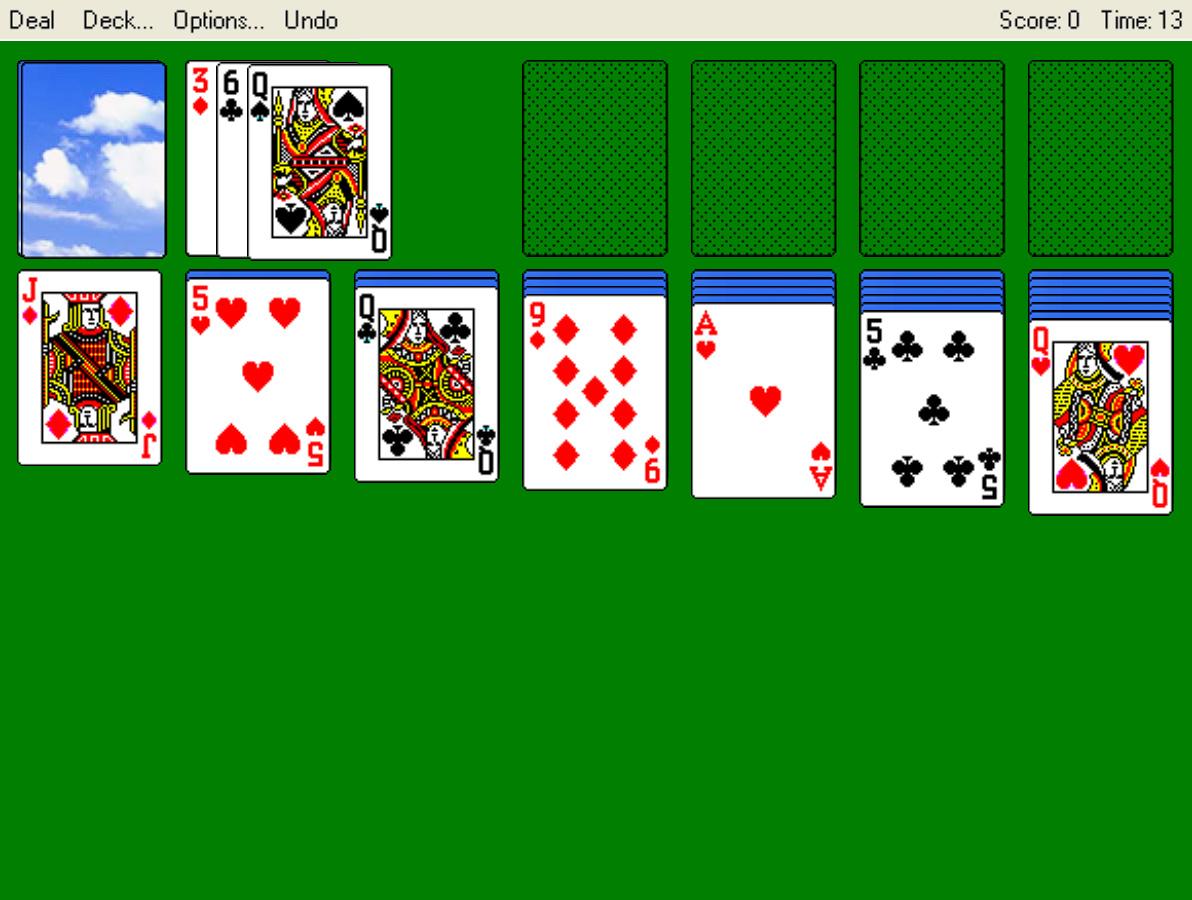solitario windows xp online