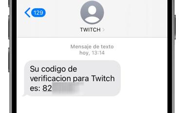 twitch codigo verificacion sms